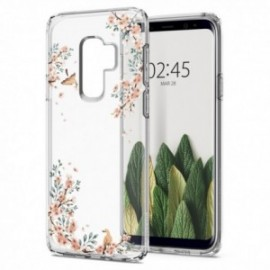 Coque Galaxy S9 Plus Spigen Liquid Crystal Blossom sable