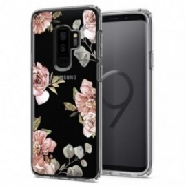 Coque Galaxy S9 Plus Spigen Liquid Crystal Blossom rose