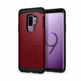 Coque Galaxy S9 Plus Spigen Slim Armor rouge