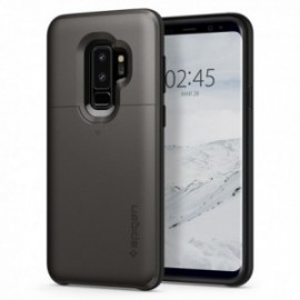 Coque Galaxy S9 Plus Spigen Slim Armor porte carte gris