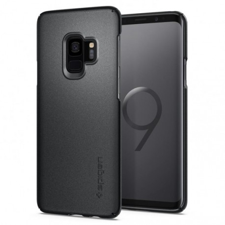 Coque Galaxy S9 Spigen Thin Fit gris