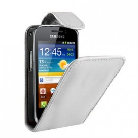 Etui Samsung s5690 Xcover simili blanc