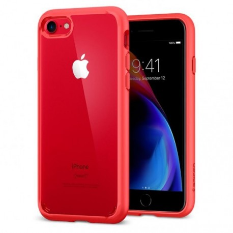 Coque iPhone 7 / 8 Spigen Ultra Hybrid 2 rouge