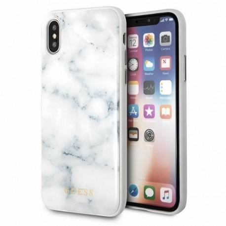 Coque Iphone X Guess aspect marbre blanc