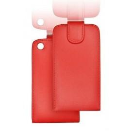 Etui Samsung i9100 cuir rouge