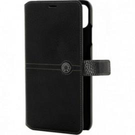 Etui iPhone XS folio Façonnable noir