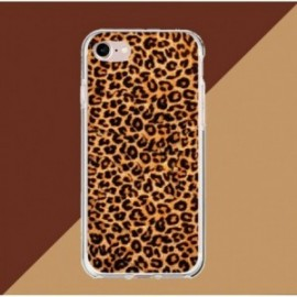 Coque iPhone 7 / 8 Crystal Bump Léopard marron