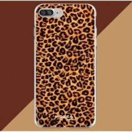 Coque iPhone 7 Plus / 8 Plus Crystal Bump Léopard marron
