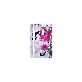 Coque Nokia lumia 800 blanche fleur violette
