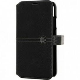 Etui iPhone XR folio Façonnable noir