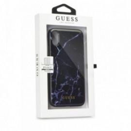Coque Iphone X Guess motif marbre noir