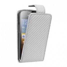 Etui Samsung Galaxy ace 2 i8160 carbone blanc