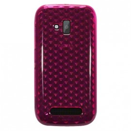 Coque Nokia lumia 610 rose diamants