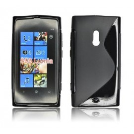 Coque Nokia Lumia 800 sline noire