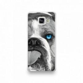 Coque Wiko Sunny 3 motif Bulldog aux yeux bleus