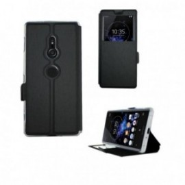 Etui Sony XA2 Plus folio fenêtre stand noir