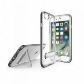 Coque Iphone 7 / 8 Hybrid avec support stand aimanté en métal argent