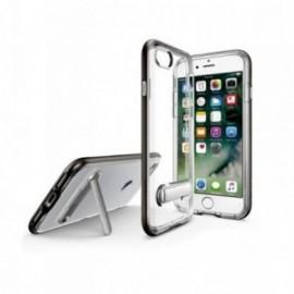 Coque Iphone 7 / 8 Hybrid avec support stand aimanté en métal noir