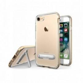 Coque Iphone 7 / 8 Hybrid avec support stand aimanté en métal or