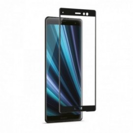 Film Sony Xperia XZ3 verre trempé incurvé contour noir + applicateur