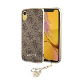 Coque iPhone XR 6,1 Guess 4G Charms marron