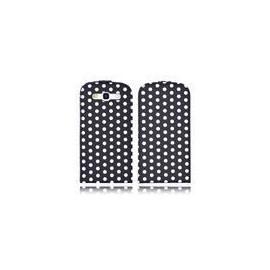 Etui Samsung Galaxy S3 i9300 noir pois blancs