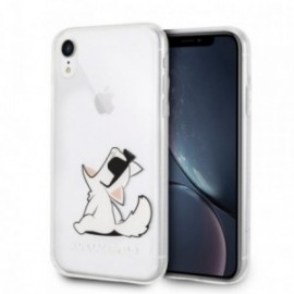 Coque Iphone XR Karl Lagerfeld transparent chat lunette