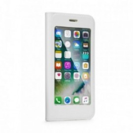 Etui Iphone 7/8 folio blanc écran protégé