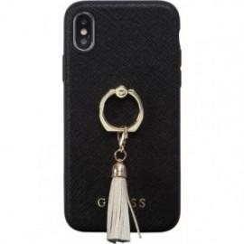 Coque iPhone X/XS Guess noire avec anneau