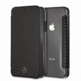 Etui Iphone Xs Max 6,5'' Folio Mercedes Dynamic Carbone noir