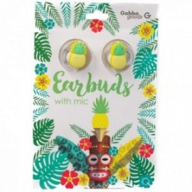 Kit mains libres Earbuds intra-oriculaire Ananas