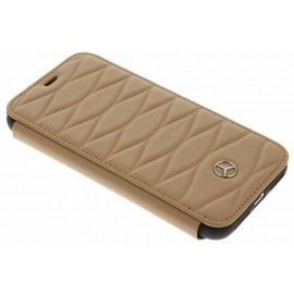 Etui iphone 8 Mercedes Benz cuir marron