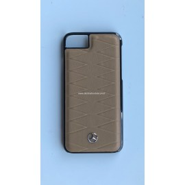 Coque iphone 8 Mercedes Benz cuir marron