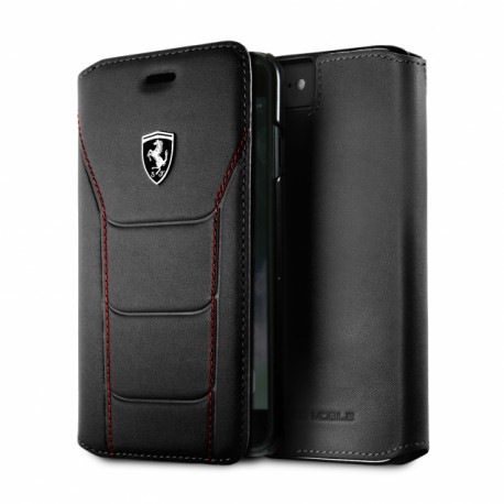 Etui iphone 6  / 6s Ferrari folio cuir noir