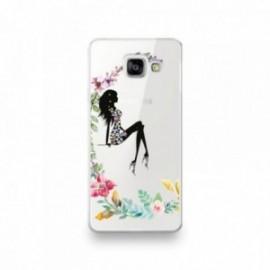 Coque Huawei Mate 20 Pro motif Silhouette Corps Femme Fleuri