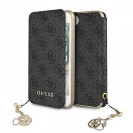 Etui Iphone 7/8 Folio Guess 4G Charms gris