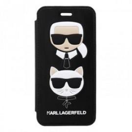 Etui Iphone X/XS Folio Karl Lagerfeld Choupette noir