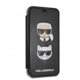 Etui Iphone XR 6,1 Folio Karl Lagerfeld Choupette noir