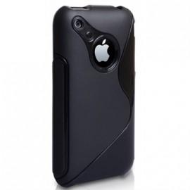 Coque iphone 3g 3gs Bi-Matière Noire