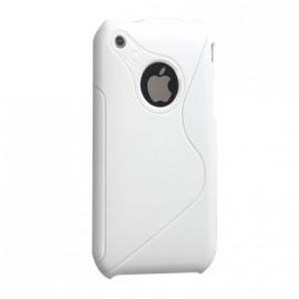 Coque iphone 3g 3gs Bi-Matière blanche