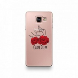 Coque Sony XZ3 motif Carpe Diem Rose Rouge Et Hirondelle