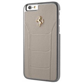 Coque iphone 6 / 6s Ferrari cuir beige