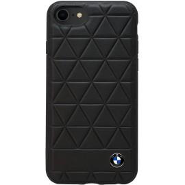 Coque iphone 8 plus BMW hexagon cuir noir