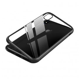 Coque IPhone XR rigide 2 en 1 aimantée