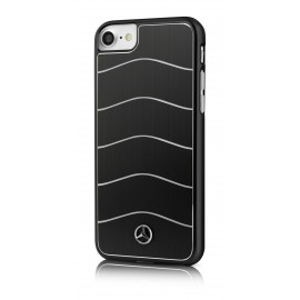Coque Apple iPhone 8 WAVE VIII Brushed Aluminium black