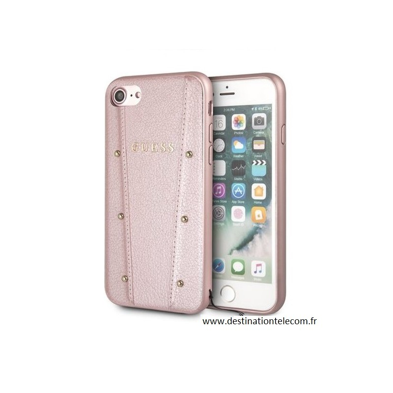 coque iphone 8 plus guess rose