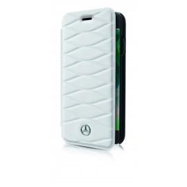 Etui iphone 8  Mercedes Benz Pattern III folio cuir blanc