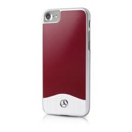 COQUE APPLE IPHONE 7 MERCEDES Brushed Aluminium Red