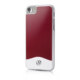 COQUE APPLE IPHONE 8 MERCEDES Brushed Aluminium Red