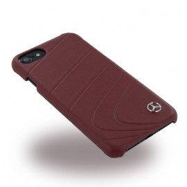 COQUE APPLE IPHONE 7 MERCEDES Organic II cuir bordeaux